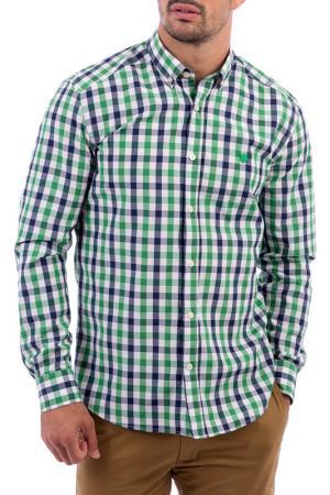 Рубашка POLO CLUB С.H.A.. Цвет: зеленый