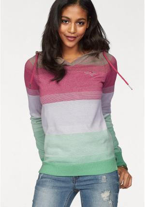 Пуловер Kangaroos. Цвет: ярко-розовый/зеленый