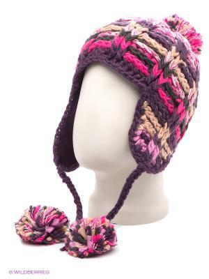 Ушанка Maxval. Цвет: фиолетовый, бежевый, розовый