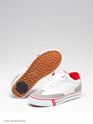 Роликовые кроссовки Heelys. Цвет: белый (осн.), серый, красный