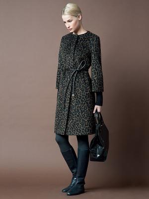 Пальто Pompa. Цвет: черный, коричневый