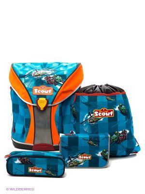 Рюкзак с наполнением Вертолет Scout. Цвет: голубой