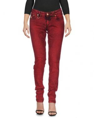 Джинсовые брюки BAD SPIRIT. Цвет: красный