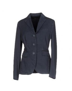 Пиджак CAPPELLINI by PESERICO. Цвет: темно-синий