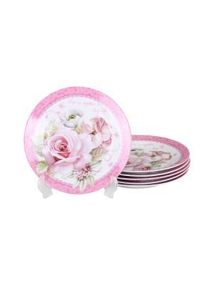 Набор десертных тарелок 6 шт. 20 см., шт PATRICIA. Цвет: розовый