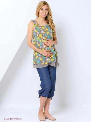 Капри для беременных impressmama. Цвет: синий