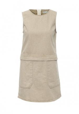 Платье Topshop. Цвет: бежевый