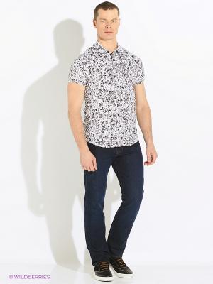 Рубашка Oodji. Цвет: белый, черный