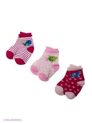 Носки, 3 пары,, PERA MAYA. Цвет: розовый