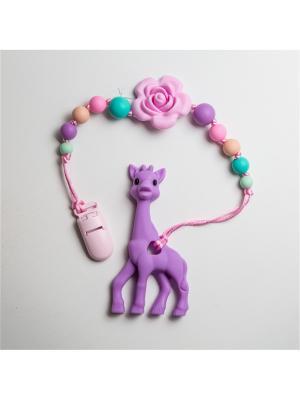 Игрушки-подвески Краски лета. Цвет: бирюзовый, розовый, фиолетовый