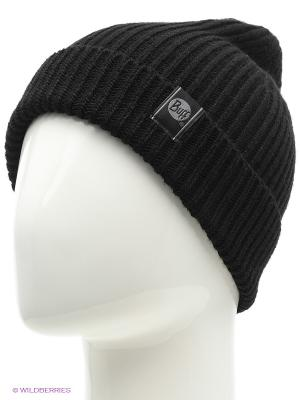 Шапка BUFF KNITTED HATS BASIC BLACK. Цвет: черный