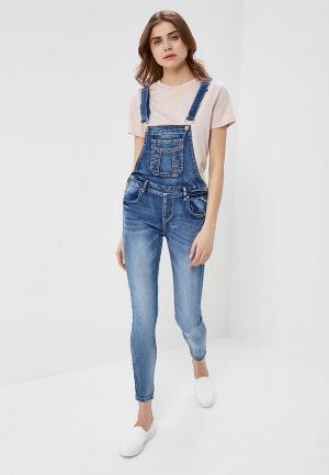 Комбинезон джинсовый G&G. Цвет: синий
