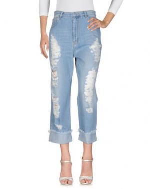 Джинсовые брюки GOLD CASE. Цвет: синий