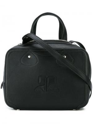 Квадратная сумка-тоут Courrèges. Цвет: чёрный