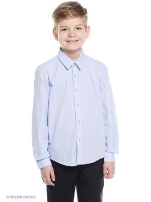Рубашка Nota Bene. Цвет: голубой