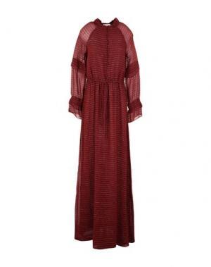 Длинное платье INTROPIA. Цвет: красно-коричневый