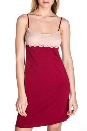 Сорочка Rose&Petal Homewear. Цвет: красный