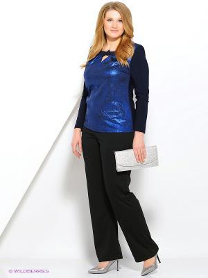 Блузка Полина. Цвет: индиго, синий