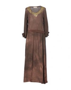 Длинное платье MONICA •LENDINEZ. Цвет: коричневый