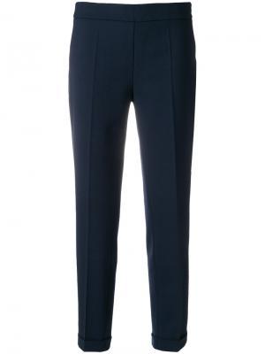 Строгие брюки D.Exterior. Цвет: синий
