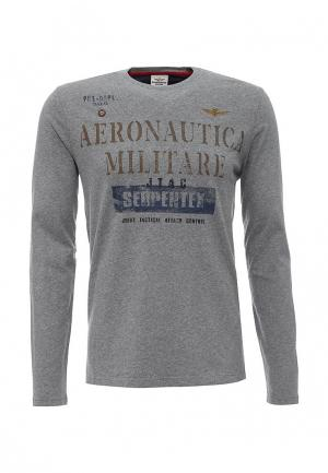 Лонгслив Aeronautica Militare. Цвет: серый