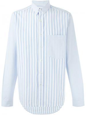 Рубашка в полоску Ami Alexandre Mattiussi. Цвет: синий