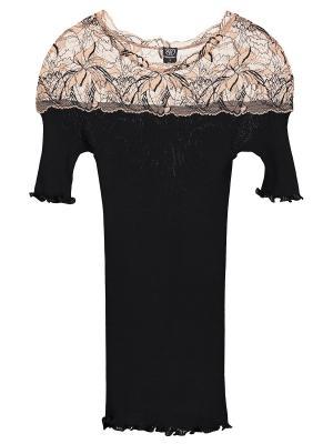 Блузка Bona Dea. Цвет: черный, персиковый