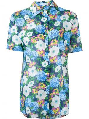 Рубашка с цветочным принтом Carven. Цвет: многоцветный