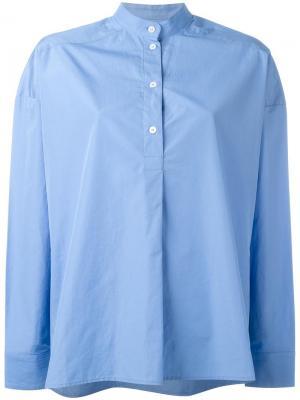 Рубашка кроя пончо Each X Other. Цвет: синий
