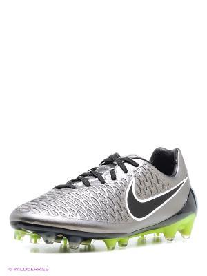 Бутсы MAGISTA OPUS FG Nike. Цвет: серебристый