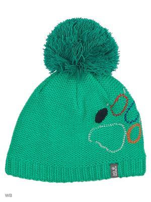 Шапка PAW KNIT CAP Jack Wolfskin. Цвет: зеленый