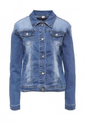Куртка джинсовая G&G. Цвет: синий
