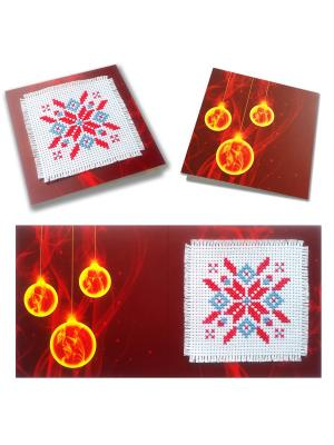 Набор для изготовления открытки Новогоднее чудо ZENGANA. Цвет: красный