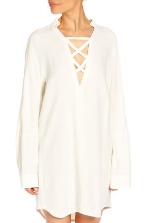 Платье Dondup. Цвет: белый