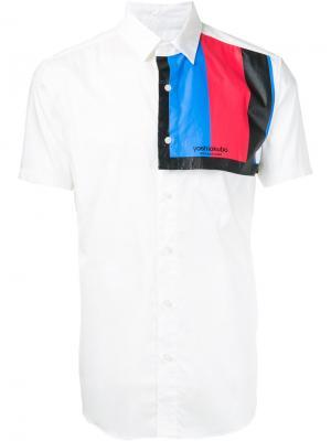 Рубашка с контрастной панелью Yoshio Kubo. Цвет: белый