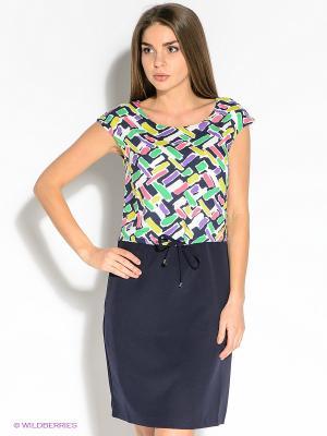 Платье F5. Цвет: темно-синий, зеленый, сиреневый