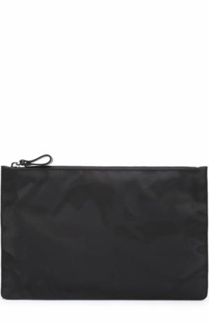 Текстильный несессер  Garavani с камуфляжным принтом Valentino. Цвет: черный