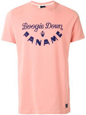 Футболка с принтом логотипа Bleu De Paname. Цвет: розовый и фиолетовый
