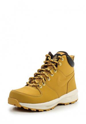 Ботинки Nike. Цвет: желтый