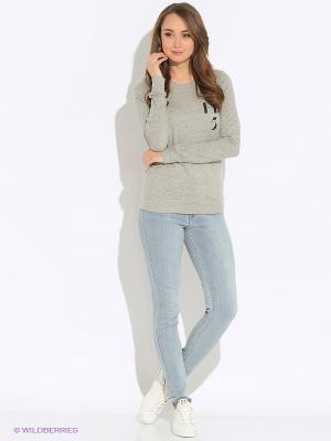 Свитшот Vero moda. Цвет: серый меланж