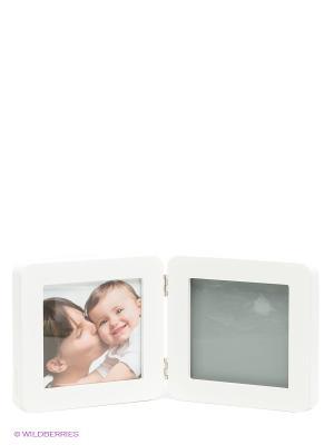 Рамочка двойная Baby Art. Цвет: серый, белый