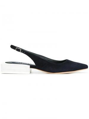 Босоножки на массивном каблуке Jacquemus. Цвет: синий