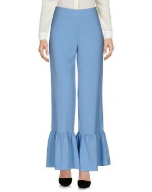 Повседневные брюки HUITDEGRÉS. Цвет: небесно-голубой