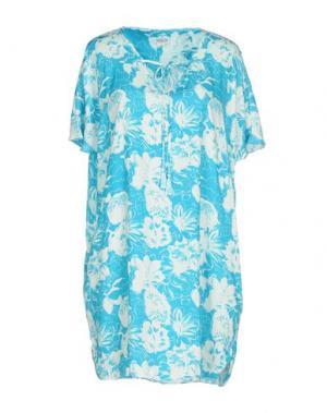 Короткое платье 100X200 CENTOXDUECENTO. Цвет: лазурный