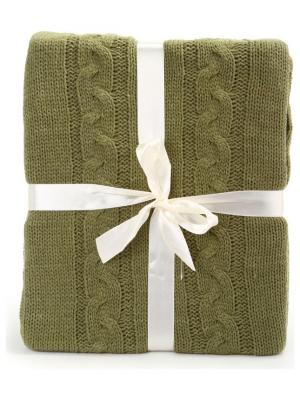 Плед 130*150 СМ Knit KnitT-Olive Cite Marilou. Цвет: оливковый