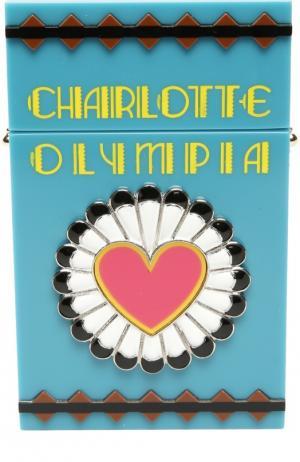 Сумка в виде пачки сигарет Smokin Clutch Charlotte Olympia. Цвет: бирюзовый