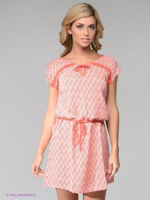 Платье PENYE MOOD. Цвет: коралловый