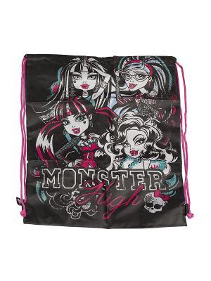 Сумка-рюкзак для обуви Monster High. Цвет: розовый, черный