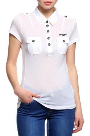 Рубашка Blauer. Цвет: белый