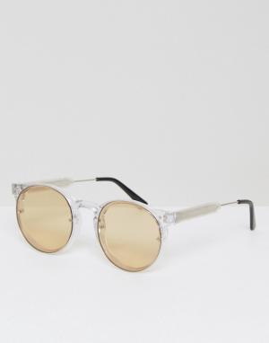 Spitfire Круглые солнцезащитные очки с желтыми стеклами Postpunk. Цвет: желтый